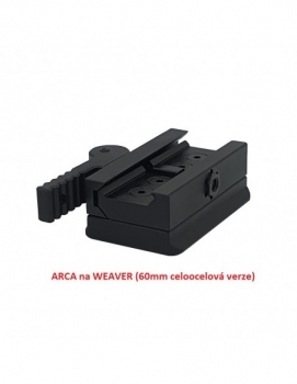 ARCA Swiss to WEAVER (reducción de trípode) ACERO