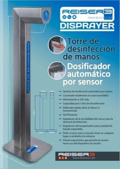 DISPENSADOR GEL HIDROALCOHOLICO AUTOMÁTICO