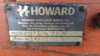 Rotovator HOWARD modelo HPL-75 de 1'80 m. - 3