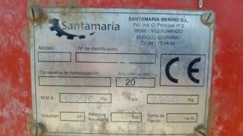 Remolque esparcidor estiércol SANTAMARIA de 20TN. - 4