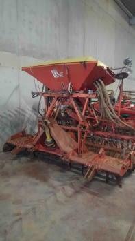 Equipo de siembra de cereales de grada rotativa +  sembradora