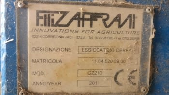Secador de cereales ZAFFRANI modelo GZ-210 - 3