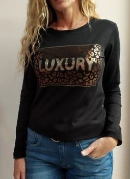 Camiseta LUXURY negra - 1