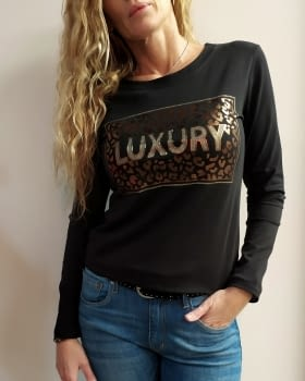 Camiseta LUXURY negra - 4