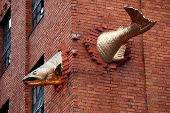 Salmon sculpture. U.S.