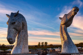Kelpie giant horse. Scotland.