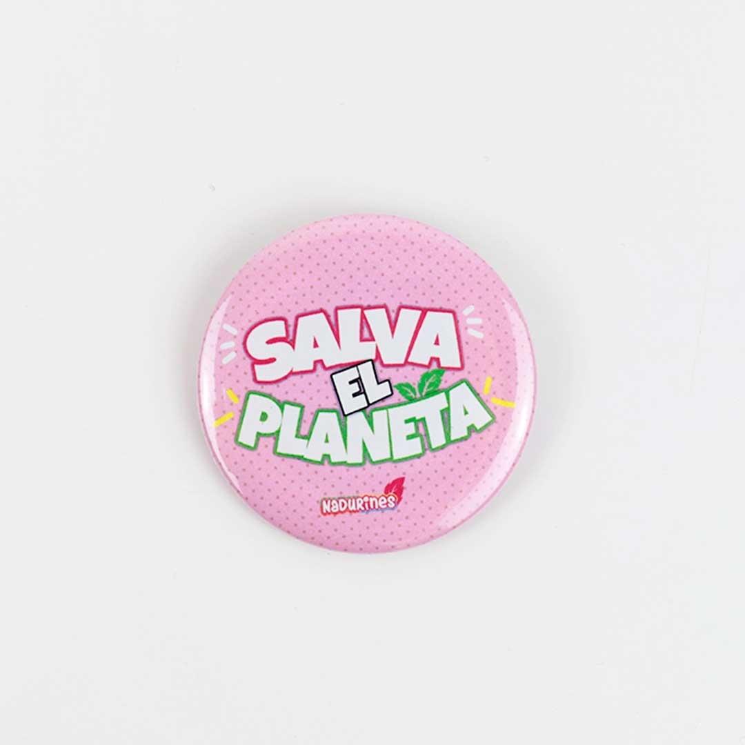 """Chapa solidaria """"SALVA EL PLANETA"""""""