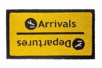"""Doormat """"Arrivals-Departures"""""""