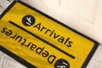 """Doormat """"Arrivals-Departures"""" - 1"""