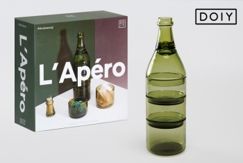 Set de cristal L'APERO - ANTIQUE GREEN by Doiy