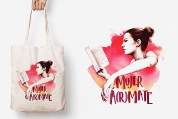 Tote Bag A(R)MATE de TRES VOLTES REBEL
