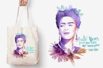 Tote Bag FRIDA de TRES VOLTES REBEL