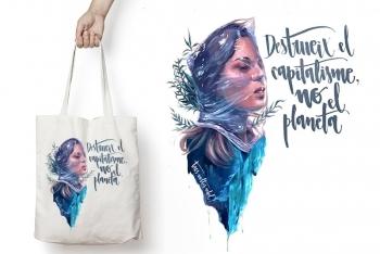 Tote Bag PLANETA de TRES VOLTES REBEL