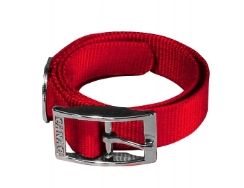 COLLAR HEBILLA METAL ROJO