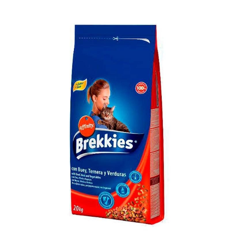 BREKKIES EXCEL CAT BUEY, TERNERA Y VERDURAS