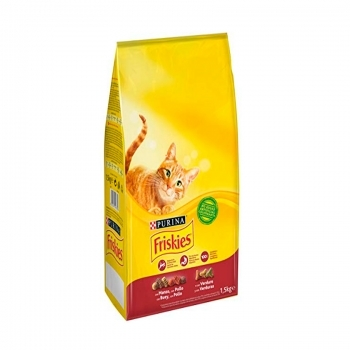 FRISKIES CAT ADULT CON BUEY, POLLO Y VERDURAS
