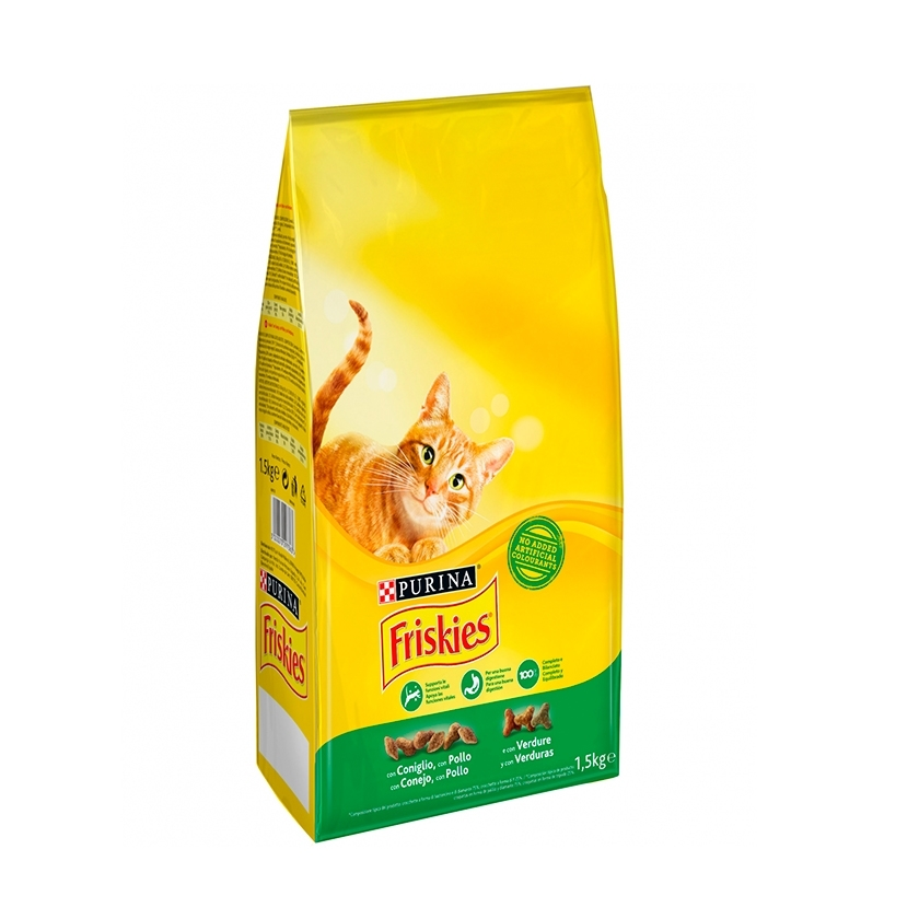 FRISKIES CAT ADULT CON CONEJO, POLLO Y VERDURAS