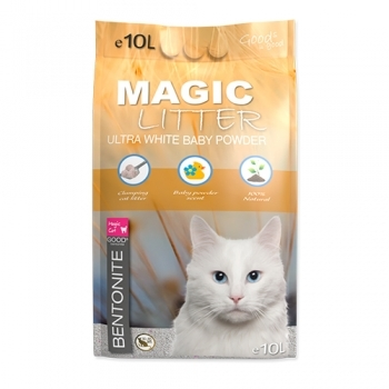 MAGIC CAT LITTER ULTRA WHITE BABY POWDER