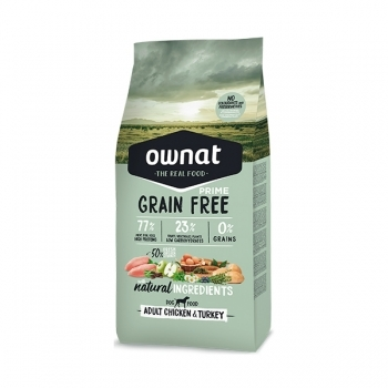 OWNAT DOG GF PRIME ADULT CHICKEN&TURKEY