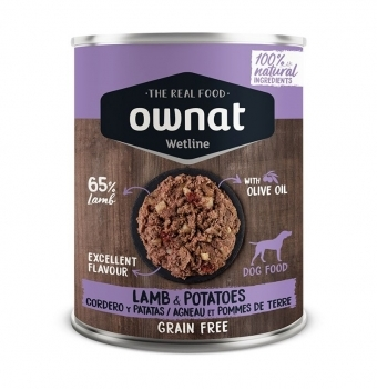 OWNAT DOG WET LAMB&POTATOES