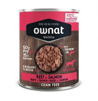 OWNAT DOG WET BEEF&SALMON