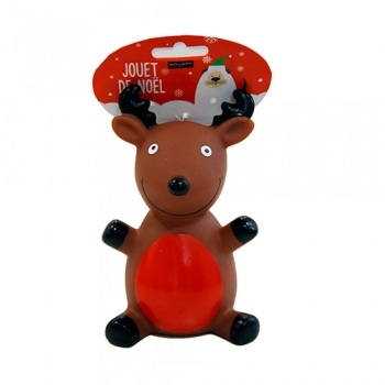 CHRISTMAS TOY DOG RENO VINILO CON SONIDO - 1