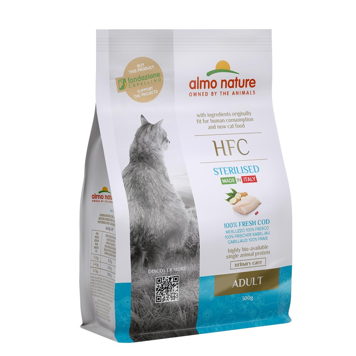 CAT DRY HFC ADULT STERILIZED BACALAO