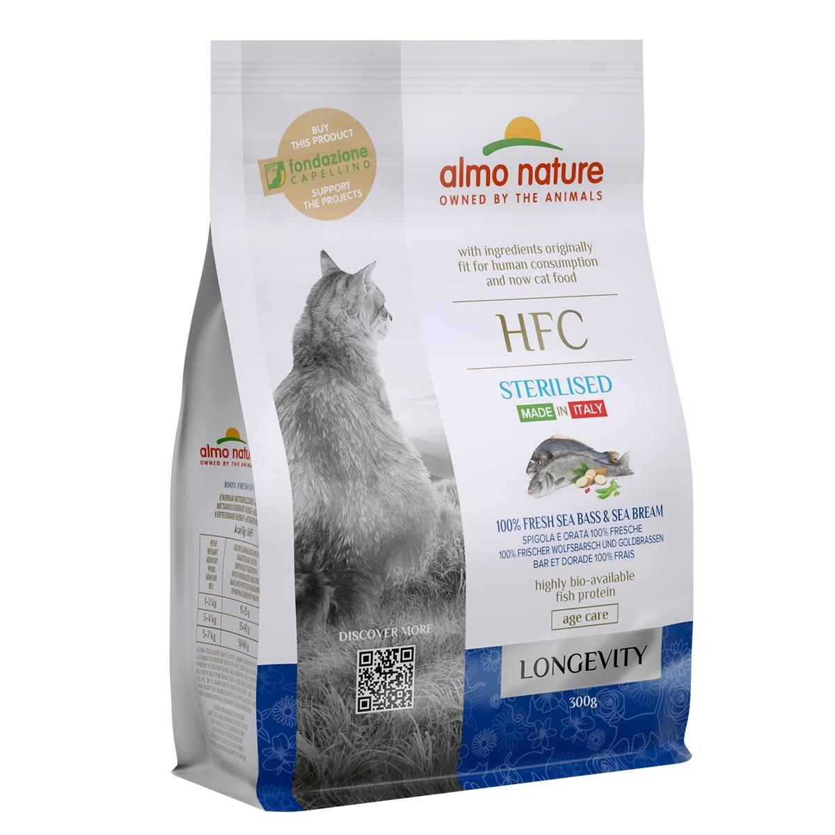 CAT DRY HFC LONGEVITY STERILIZED LUBINA Y BESUGO
