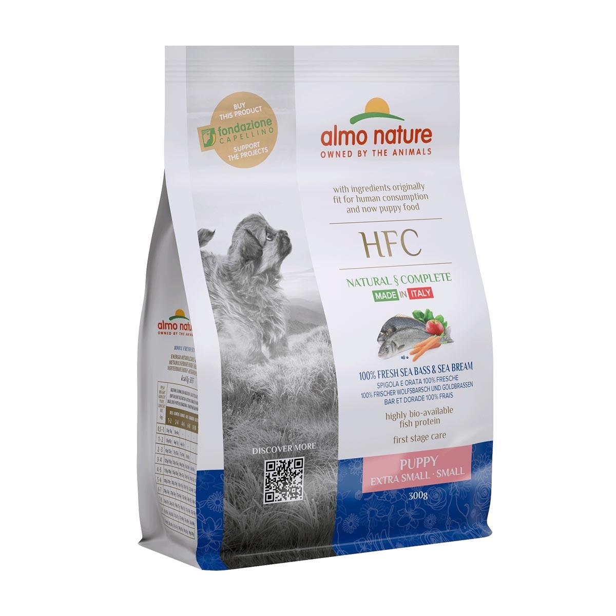 DOG DRY HFC PUPPY SMALL LUBINA Y BESUGO 300G