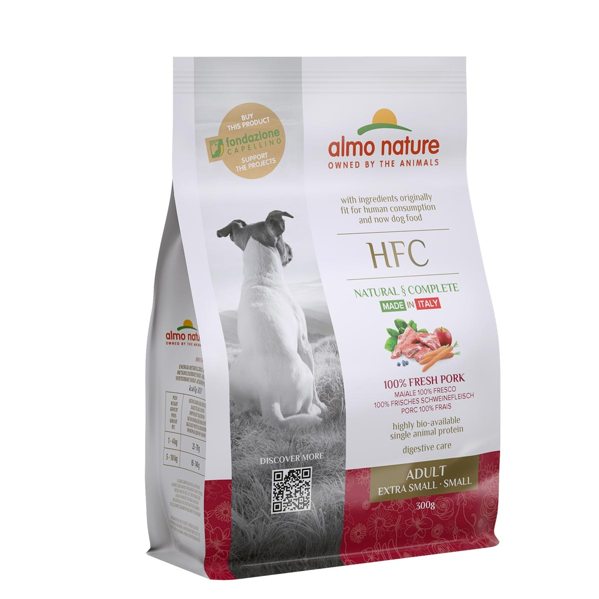 DOG DRY HFC ADULT SMALL CERDO 300G