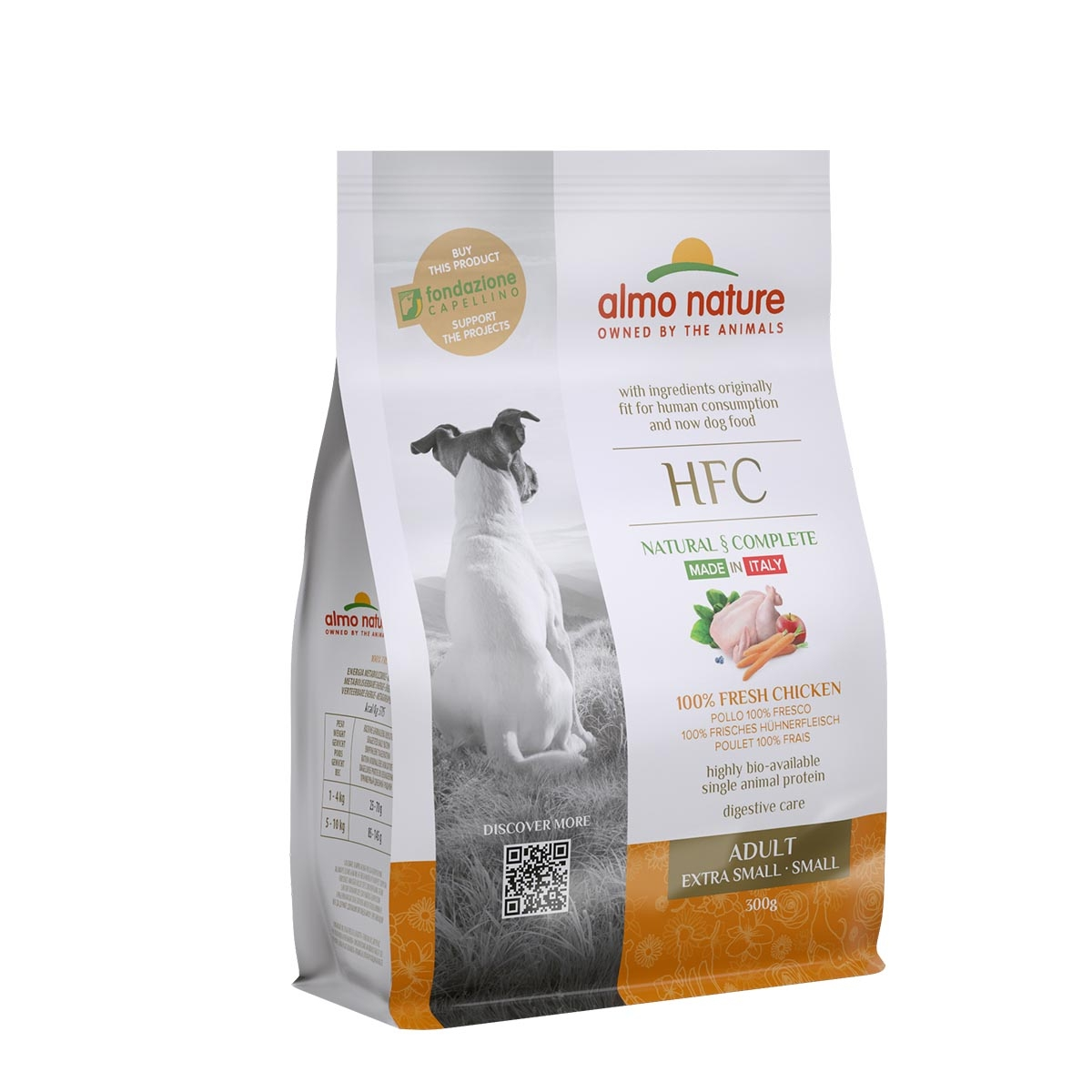DOG DRY HFC ADULT SMALL POLLO 300G