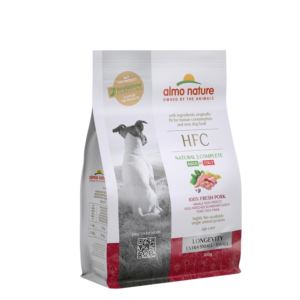 DOG DRY HFC ADULT SMALL LONGEVITY CERDO 300G