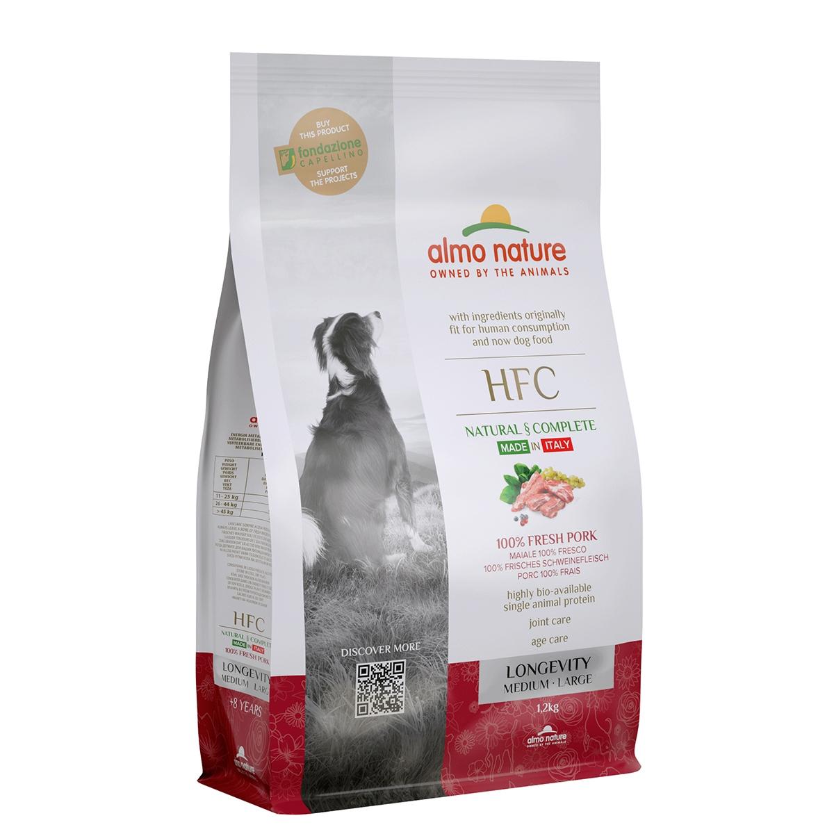 DOG DRY HFC ADULT MED-LAR LONGEVITY CERDO