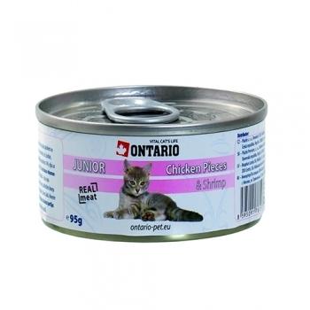 ONTARIO CAT JUNIOR CHICKEN PIECES, SHRIMP