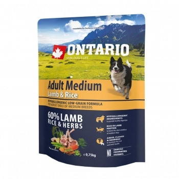 ONTARIO ADULT MEDIUM LAMB & RICE - 2
