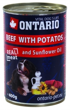 ONTARIO DOG BEEF, POTATOS, SUNFLOWER OIL