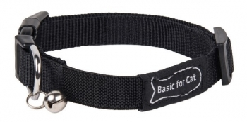 COLLAR GATO BASIC LINE NEGRO GM