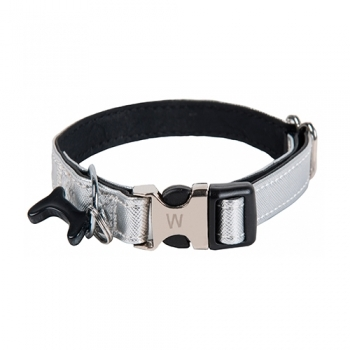 COLLAR BLACK BONE PLATA
