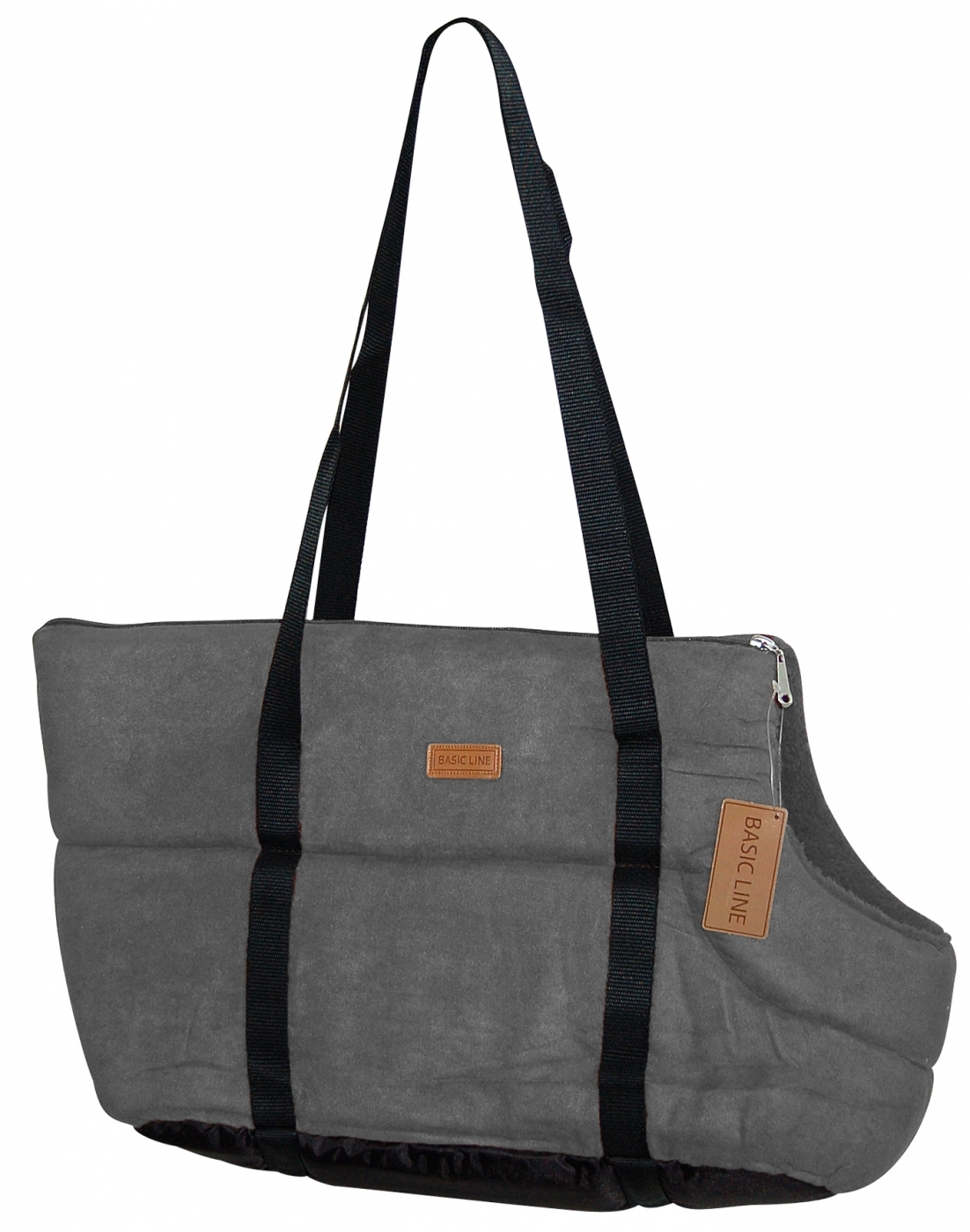 BOLSO SUEDE BASIC GRIS