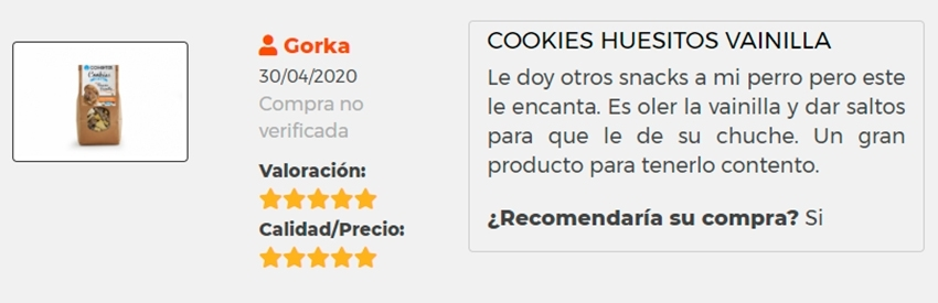 Opinion apertura cominter cookies
