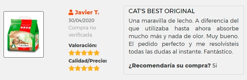 Opinion apertura cat's best original