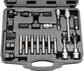 Kit 23 llaves poleas alternador