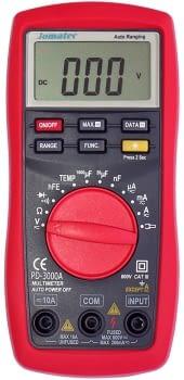 Polímetro digital autorango con sonda de temperatura