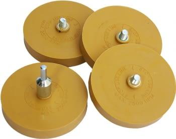 Juego 4 discos eliminar adhesivos