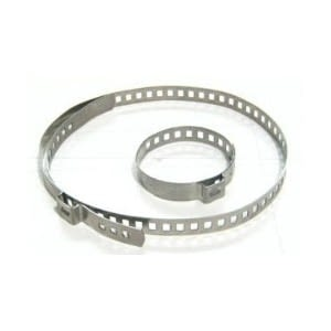 Bolsa 50 abrazaderas de acero inoxidable  diámetro 15-45mm