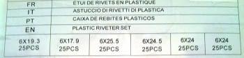 ESTUCHE 150 REMACHES DE PLASTICO - 1