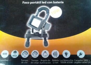 FOCO LED RECARGABLE CON PIE + IMAN DE 10W - 5