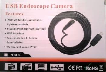 VIDEOSCOPIO USB CON CAMARA PARA PC O MOVIL DIAM. 5,5MM L 2M - 3