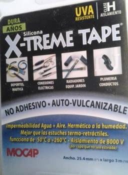 CINTA SILICONA AUTO-VULCANIZANTE X-TREME TAPE - 2
