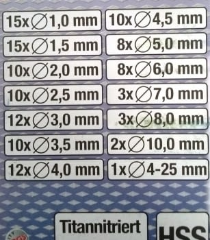 ESTUCHE 118 BROCAS HSS TITANIO + FRESA ESCALONADA 5-25MM TITANIO - 4